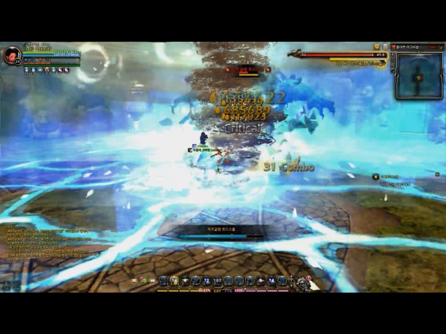 Dragon Nest Elestra Awakening Skills Test in Bishop Nest Ice Witch Awakening
