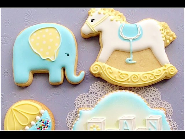 Baby Rattle cookie. Baby shower. My little bakery