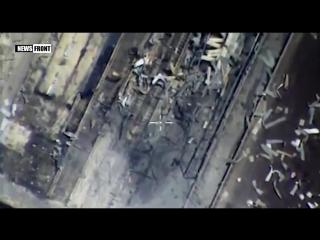 Сверхточные попадания ракет комплекса «Калибр» по объектам террористов в Сирии