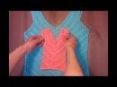 Майка-топ крючком по диагонали Видео-презентация Летний топ