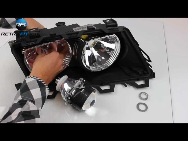 BMW 3 E46 Bi xenon projector headlight retrofit kit explained