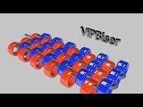 Мозаичное плетение бисером. 3D урок по бисероплетению для начинающих
