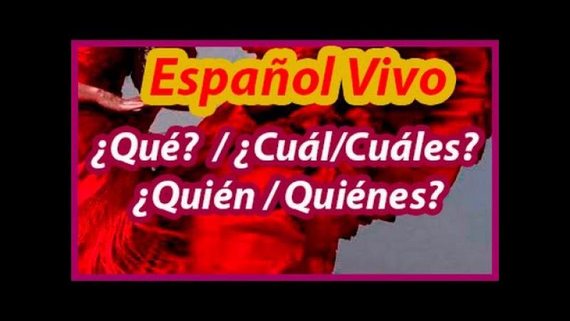 Испанский язык. ¿Qué? ¿Cuál/cuáles? ¿Quién/Quiénes?