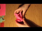 Тюльпан из бумаги оригами.Flower paper origami
