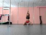 Marina Iris, exotic pole dance routine, 2015