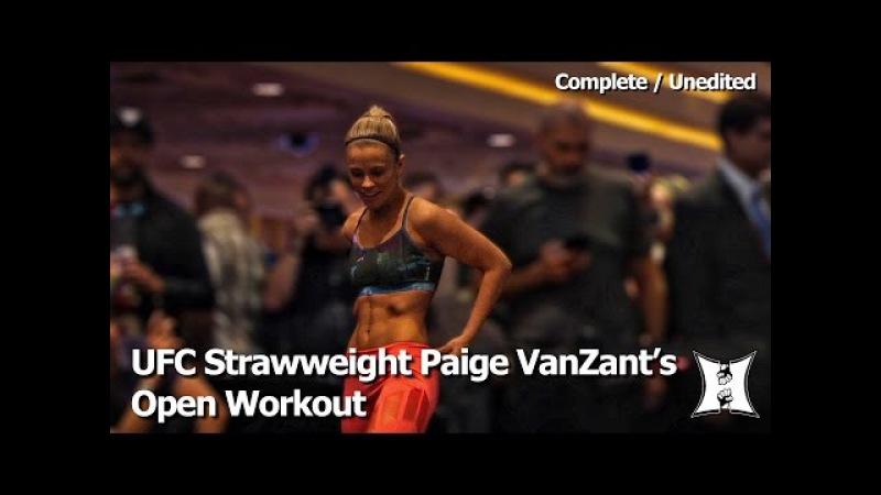 UFC Strawweight Paige VanZant's Open Workout Before Rose Namajunas Fight