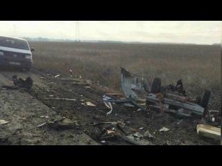 На юго‑востоке Украины около одного из КПП на мине подорвался микроавтобус.
