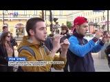 Необычные концерты стрит-музыкантов в центре Петербурга