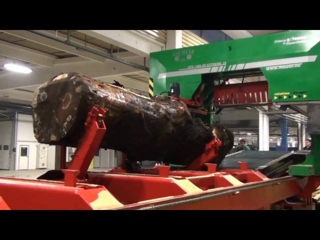 MEBOR'S BIGGEST BAND SAW FOR LARGE LOGS HTZ 1400 SP EXTREME 19 testing video