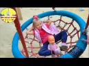 ✔ Nenuco. Little girl Yaroslava on the playground in the park with her baby doll  Video for kids ✔