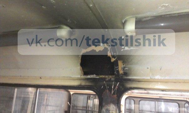 Молния поразила трамвай с пассажирами