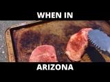 Жаркая погода в Аризоне: готовим стейк на асфальте и выпекаем печенье в ламбо
