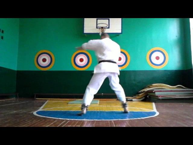 Субботняя круговая тренировка Годзю-рю каратэ пос. Каменка