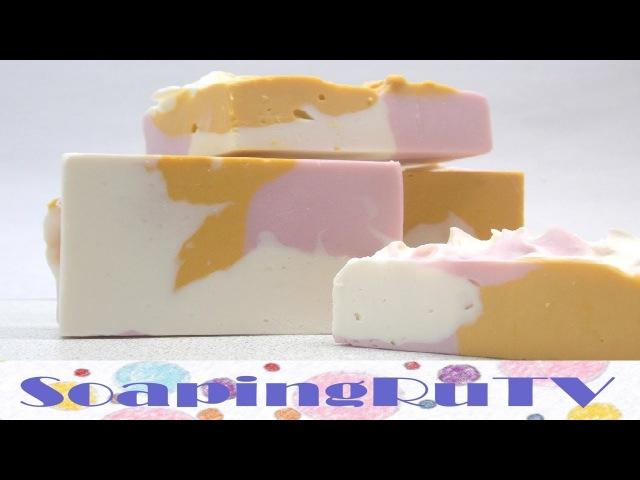 №2 Взбитое мыло с нуля холодным способом. Whipped soap.