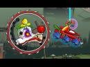 Мультик ИГРА для детей про МАШИНКИ - МАШИНА ест МАШИНУ 5 ТАНК ШАТЛ KidMasterGames
