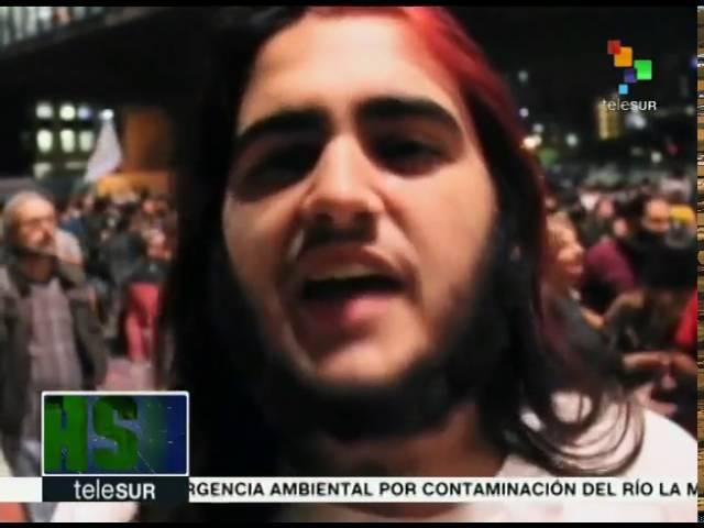 Brasil protestan en Sao Paulo contra el golpe al gobierno de Dilma