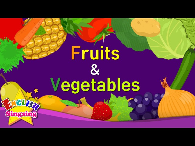Kids vocabulary - Fruits Vegetables 2- Learn English for kids - English educational video