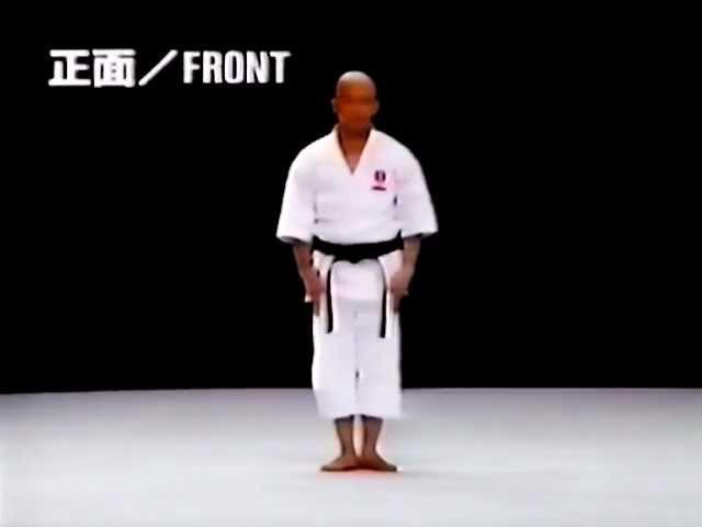 Tsuguo Sakumoto sensei. 8 Dan Ryuei-ryu karate. Kata.