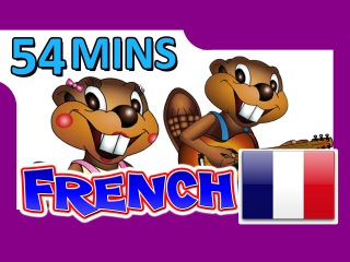French Level 1 DVD - 54 Minutes, Learn to Speak Français, Easy French Lessons, Kids School