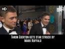 Hilarious - Taron Egerton Star-Struck by Mark Ruffalo on the BAFTA Red Carpet!