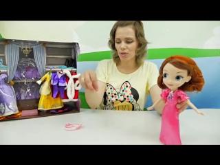 Видео для девочек   Играем с интересными куклами Доктор Плюшева София Прекрасная Маленькие Феи Де