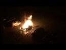 Лесная поляна, Кемерово, горит машина