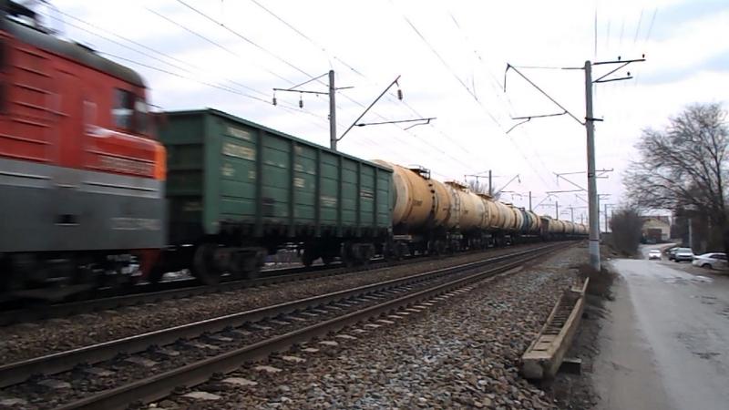 ВЛ80С-852/1197 (ТЧЭ-4 Лиски-Узловая, ЮВЖД), перегон Кизитеринка-Александровка, 14 февраля 2016 года.