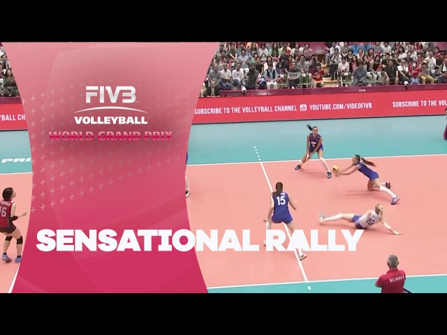 Sensational rally between Japan and Russia - FIVB World Grand Prix
