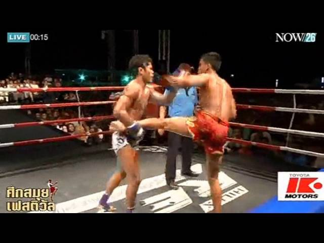 Muay Thai Sangmanee Sor Tienpo Vs Muengthai PK Saenchai Samui Festival 24 Jan 2016