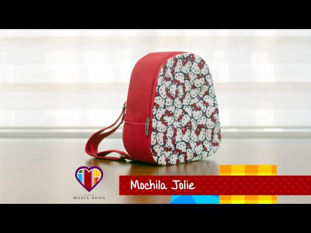Mochila infantil de tecido Jolie. Fabric backpack for children. Make a fabric backpack for children