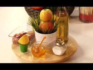 Детское меню. Яблочный салат красоты, утка в яблоках, яблочный пирог для Пушкина