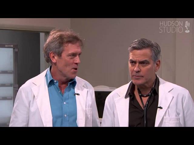 Хью Лори и Джордж Клуни на шоу Джимми Киммела озвучка Hudson