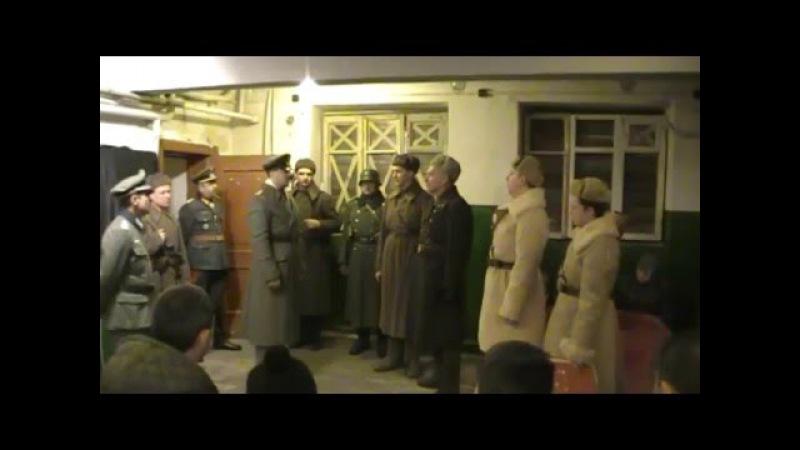 Реконструкция Пленение штаба 6 й армии и генерал фельдмаршала Ф Паулюса 31 янв