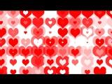 Hearts Background for wedding. Футажи и фоны HD. Заставка для свадебного фильма.