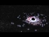 Чёрные дыры во Вселенной. Гигантская космическая черная дыра. Искривление пространства. Вселенная