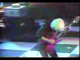 Tony Iommi of Black Sabbath and Lita Ford jamming