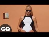 Yvonne Strahovski frolics on beach for GQ Australia