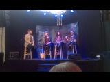Aminata Savadogo (Latvia) sings acoustic version of 'Love Injected' at Euro Fan Café
