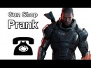Commander Shepard Calls Gun Shops Mass Effect Prank