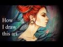 Процесс рисования Lady April