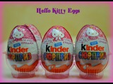 Хелло Китти Киндер Сюрприз распаковка Kinder Surprise toys Hello Kitty for girls