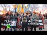 В Одессе активисты «Азова» устроили факельное шествие #одесса #азов #украина