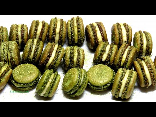 Làm bánh MACARONS trà xanh rất An toàn kem KIWI video clip hướng dẫn dạy học cách làm bánh cơ bản