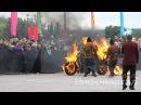 «Призрачный гонщик» на горящем мотоцикле