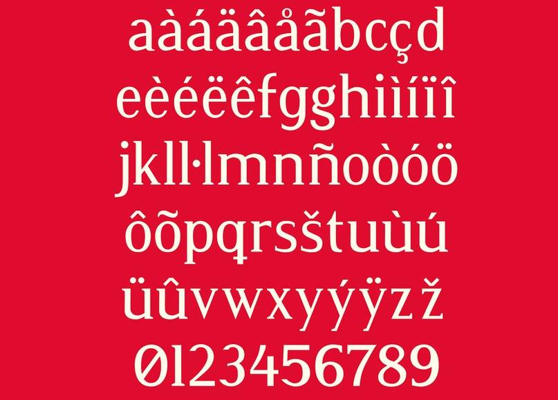 шрифт Atia