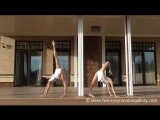 SLs Elastic Sisters Albina and Anzhela, flexibility and cortontion show, растяжка