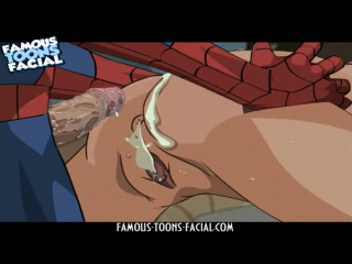 Spider-Man fuck Gwen Stacy in Anal. Famous Toons Facial. Порно Мультик. Комикс. Секс Хентай. Аниме. Эротика. Хентай.