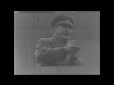 Первомайская демонстрация трудящихся в СССР. Москва, 1950 г.