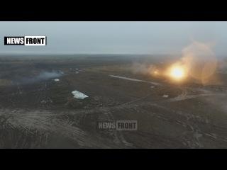 Уникальные кадры с беспилотника - масштабные военные учения в ДНР