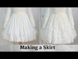 Making a Skirt  The Fluffy Feathered Dress, Part One